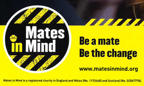 JNJ Builders West London Support the Mates In Mind Charity
